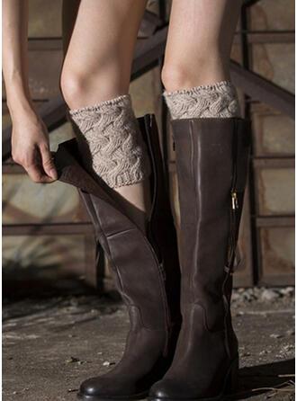 Couleur unie Respirant/Confortable/Jambières/Chaussettes à revers Chaussettes