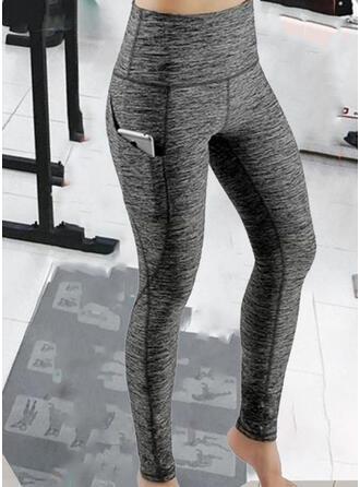 Couleur Unie Patchwork Sexy Sportif Yoga leggings