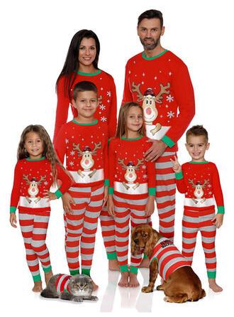 Cerf Striped Tenue Familiale Assortie Pyjama De Noël