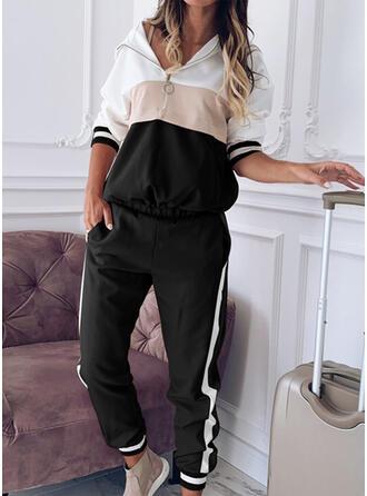 Striped Froncé Grande taille Longue Décontractée Sportif Pantalon
