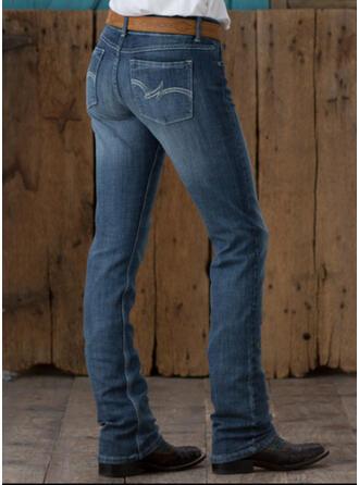 Froncé Grande taille Élégante Ancien Jeans