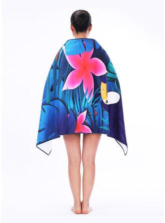 Floral/Retro /Cru/Bohême/Feuilles/Empreinte d'animal mode/Multi-fonctionnel/Sans sable/Séchage rapide serviette de plage