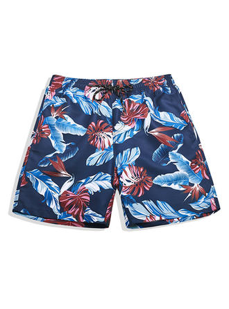 Pour des hommes Doublé hawaïen Shorts de bain