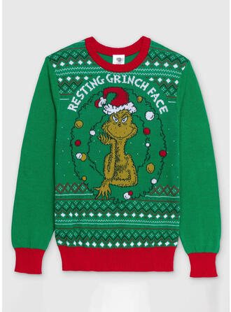 Unisex Print Ugly Christmas Sweater
