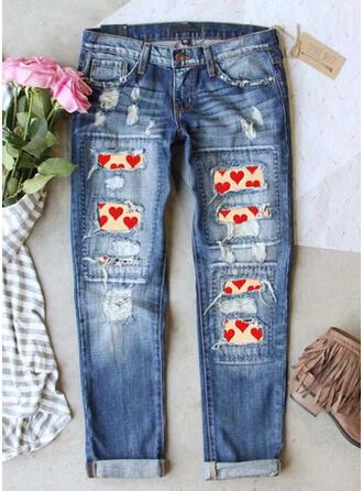 Imprimé Déchiré Jeans