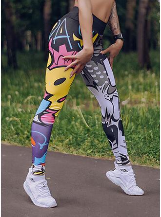 Imprimé Longue Décontractée Sportif Yoga leggings