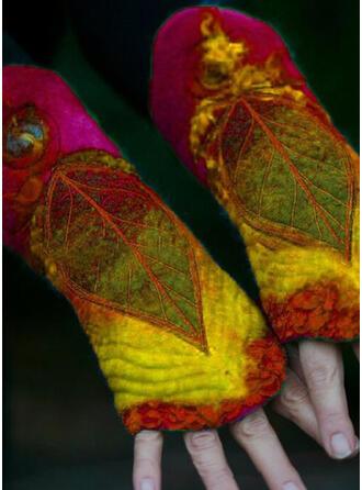 Floral/Couture/Feuilles Colorful/Feuilles en forme/aux femmes Gants