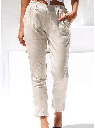 Les poches Froncé Longue Décontractée Élégante Pantalon