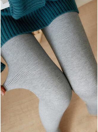 Couleur Unie Décontractée Plaine Extensible leggings