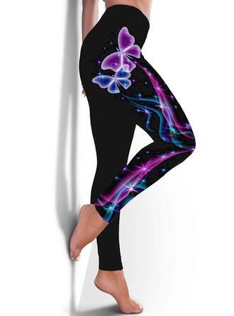 Imprimé Grande taille Longue Décontractée Sportif Yoga leggings