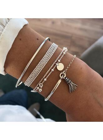 Unique Exquis élégant Alliage Parures Bracelets Bijoux de plage (Ensemble de 4 paires)