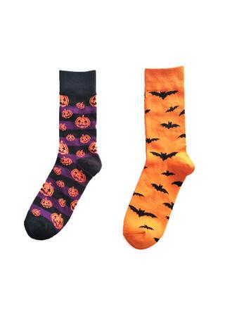 Confortable/l'Halloween/Citrouille/Batte en forme Chaussettes (Ensemble de 2 paires)