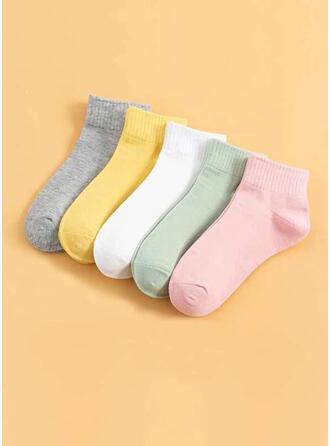 Solid Color simple/Ankle Socks Socks (Set of 5 pairs)