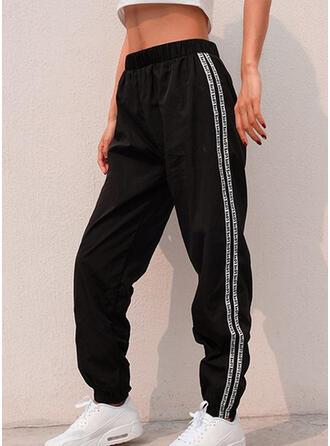 Striped Froncé Décontractée Sportif Pantalon