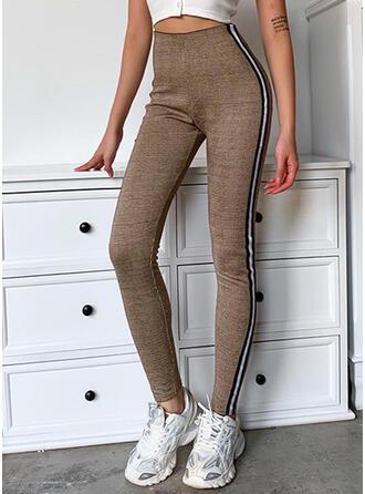 Striped Longue Décontractée Maigre Striped Yoga Pantalon