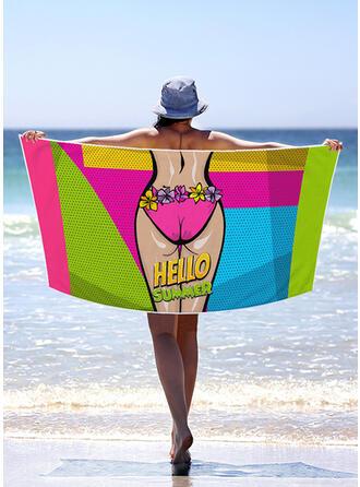Bohême/letter/Colorful Poids léger/Multi-fonctionnel/Sans sable/Séchage rapide serviette de plage