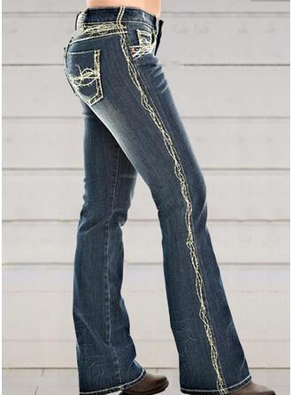 Froncé Grande taille Élégante Sexy Maigre Jeans