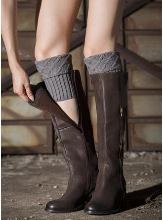 Couleur unie Respirant/aux femmes/Jambières/Chaussettes à revers Chaussettes