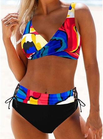 Imprimé À Bretelles Sexy Grande taille Boho Bikinis Maillots De Bain