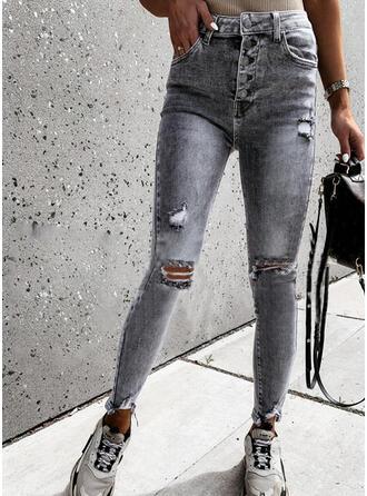 Froncé Déchiré Longue Élégante Sexy Jeans
