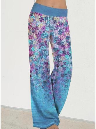Floral Print Long Casual Vacation Pants