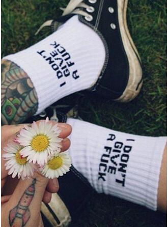 Letter Calf Socks Socks