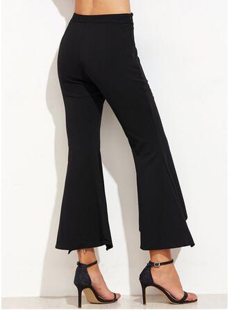 Patchwork Froncé Grande taille Tondu Élégante Sexy Pantalon