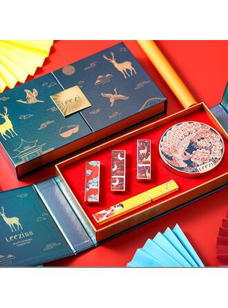 2 couleurs Classique Papier Plastique Rouges à lèvres Crème BB & CC avec boîte