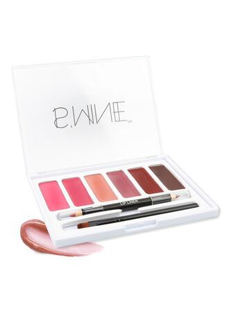 6 couleurs Mat Classique Hydratant Pan de rouge à lèvres avec boîte