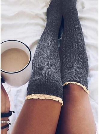Couleur unie Respirant/Confortable/aux femmes/Chaussettes hautes Chaussettes/Bas