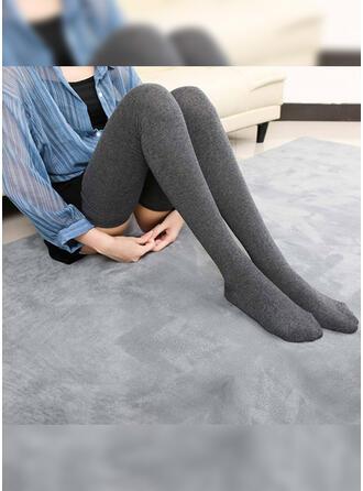 Couleur unie Confortable Chaussettes/Bas
