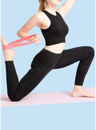 Couleur unie Yoga Pull Band Bandes de résistance de fitness