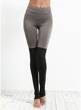 Patchwork Longue Maigre Sportif Yoga leggings
