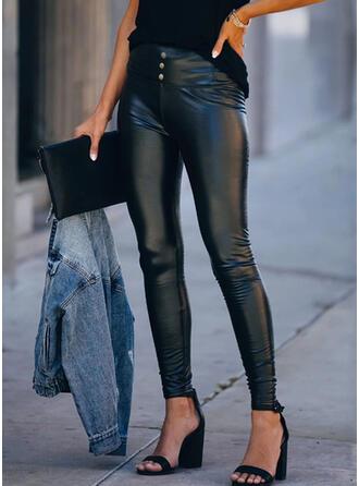 Imprimé Grande taille Sexy Cuir Extensible leggings