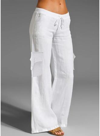 Solid Long Casual Drawstring Pants Lounge Pants