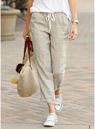 Les poches Froncé Grande taille Longue Décontractée Sportif Pantalon