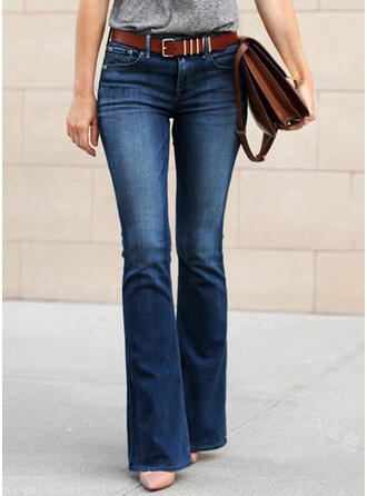 Grande taille Longue Boho Sexy Jeans