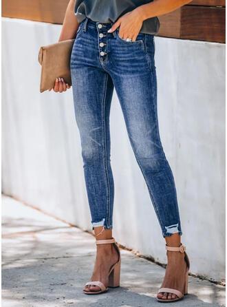 Froncé Grande taille Tassel Élégante Sexy Jeans