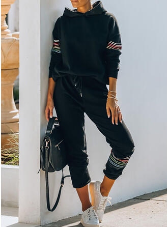 Striped Grande taille Longue Décontractée Sportif Pantalon