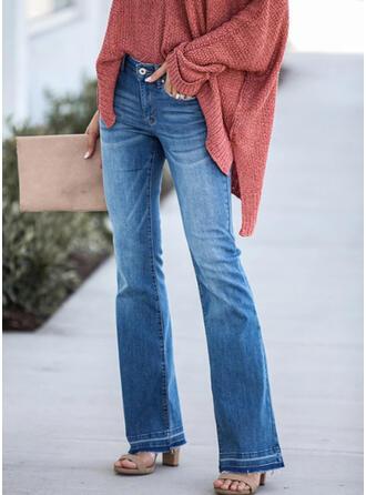 Froncé Grande taille Longue Élégante Sexy Jeans
