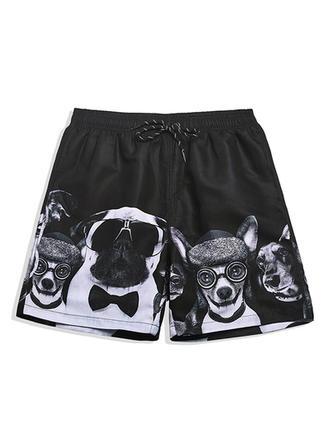 Pour des hommes Inmprimé Doublé Shorts de bain