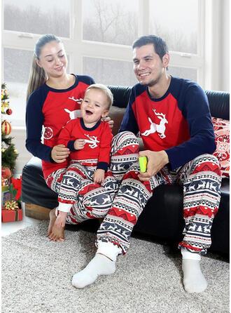 Renne Couleur-Bloc Tenue Familiale Assortie Pyjama De Noël