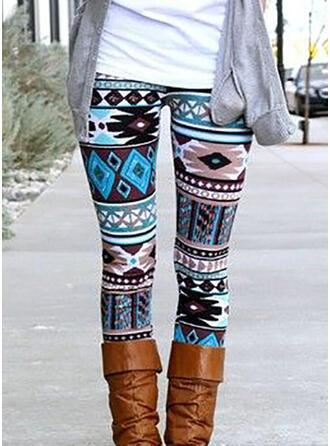 Géométrique Imprimé Longue Décontractée Sexy leggings