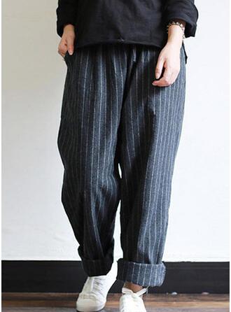 Striped Longue Décontractée Striped Pantalon