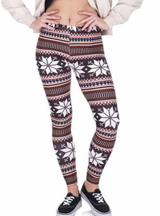 Géométrique Longue Maigre Yoga leggings
