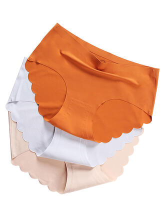 Couleur unie Floral Slips Culotte