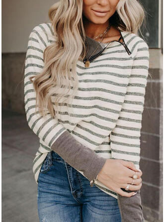 Striped Long Sleeves T-shirts