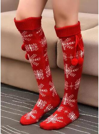 Style de Noël aux femmes Chaussettes