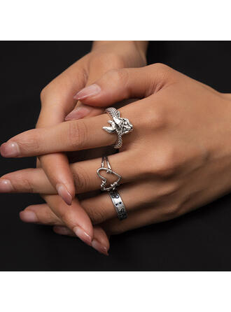 Beautiful Stylish Boho Pretty Alloy Women's Ladies' Girl's Rings 3 PCS