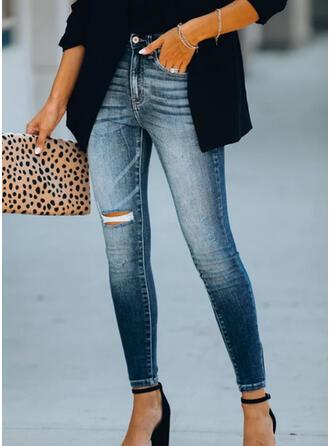 Froncé Déchiré Élégante Sexy Maigre Jeans